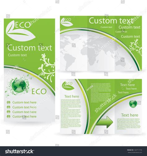 stock layout brochure template vector brochure layout design template green stock vector