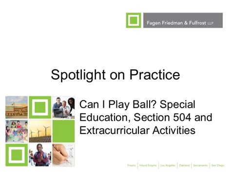special education section 504 ses fall 2012 spotlight on practice can i play ball