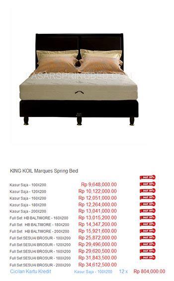 Bed Comforta Bekasi Harga King Koil Bed Termurah Di Indonesia Daftar