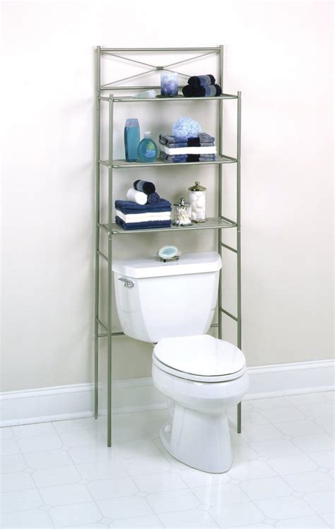 bathroom space saver with over the toilet storage cabinet