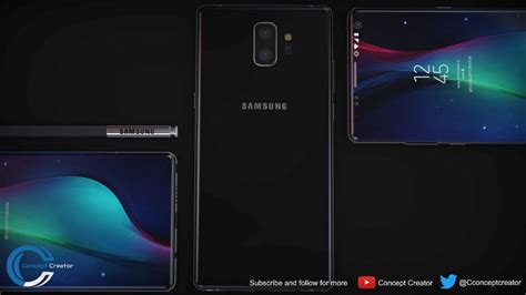 galaxy note ii concept phones samsung galaxy note 9 gets turned into the quot bezel less beast quot concept phones