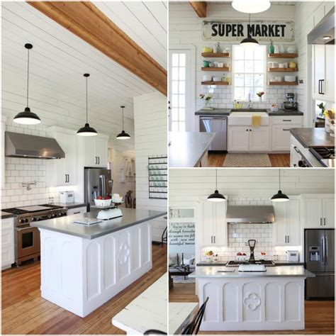 Contemporary Kitchen Island - 10 fixer upper modern farmhouse white kitchen ideas kristen hewitt