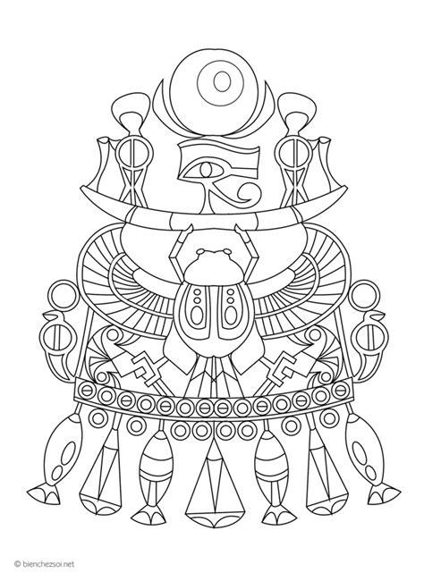Coloriage amulette inca, dessin anti-stress gratuit pour