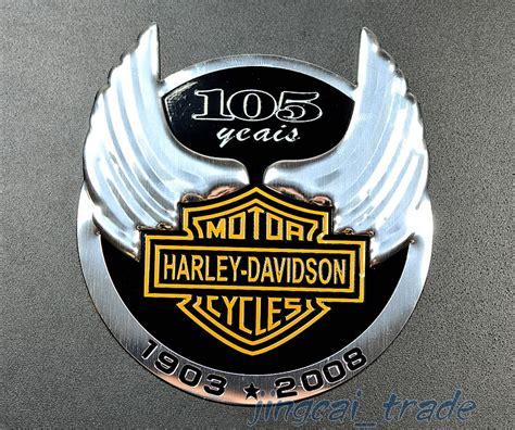 harley davidson 105 anniversary motorcycle aluminium emblem badge sticker decal