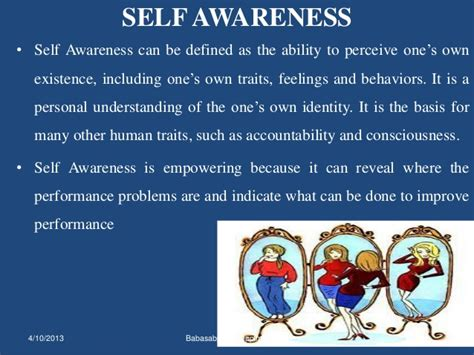 Mba Hr Means by Self Awareness And Self Esteem Mba Hr Ppt