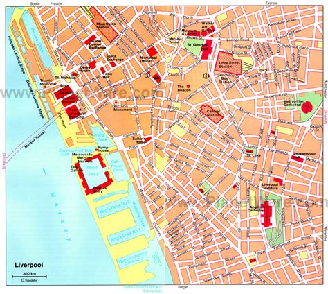 Printable Map Liverpool City Centre | liverpool map detailed city and metro maps of liverpool