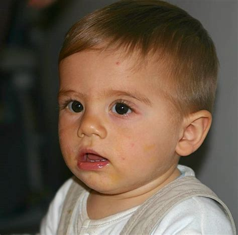 baby boy first hair cut maxim has got his first haircut