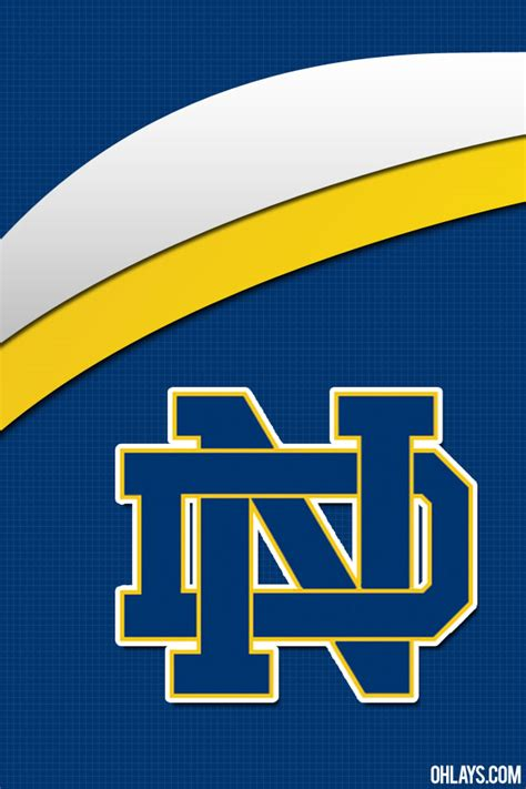 notre dame fighting irish iphone wallpaper  ohlays