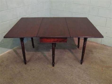 antique regency mahogany gate leg drop leaf dining table