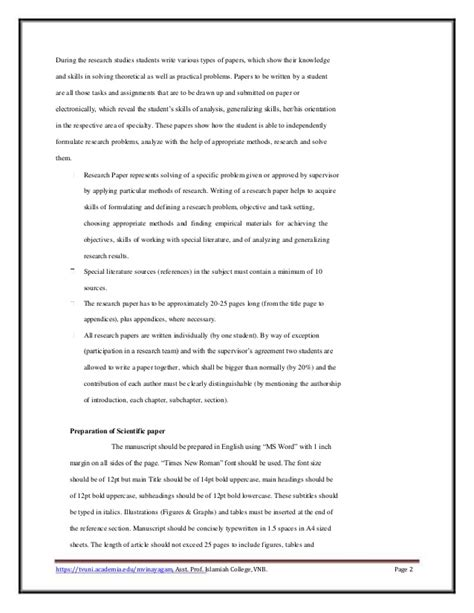 guidelines for writing scientific papers guidelines to scientific paper writing