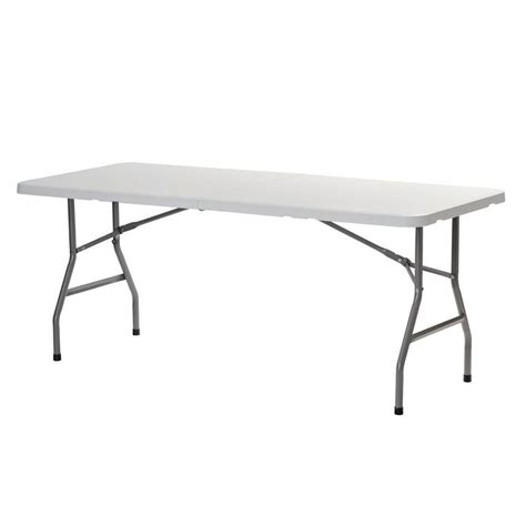 8 foot folding table home sandusky white folding table fpt7230 the home depot