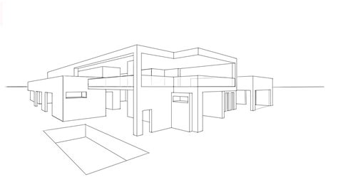 modern house drawing house drawing black modern house