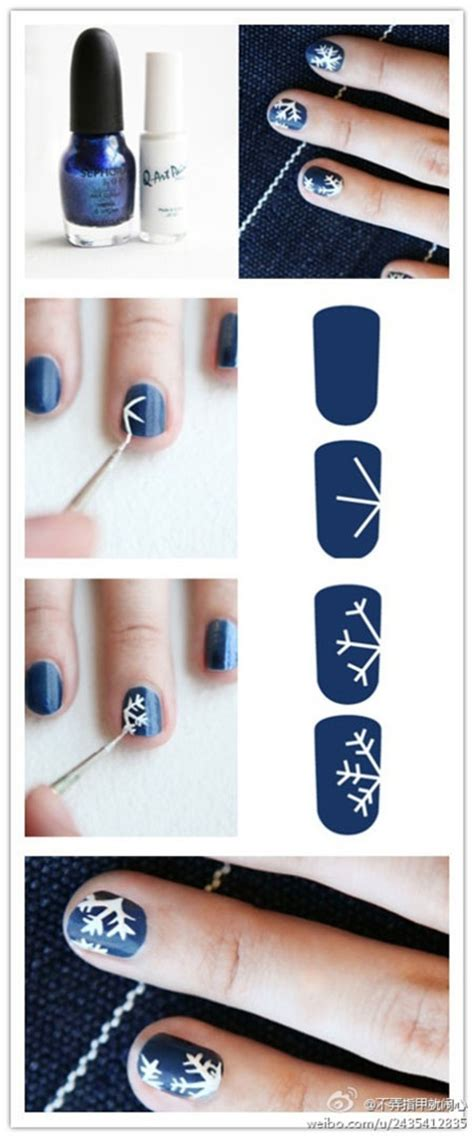 nail art winter tutorial step by step winter nail art tutorials 2013 2014 for