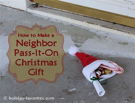 christmas pass the gift pass it on gift idea favorites