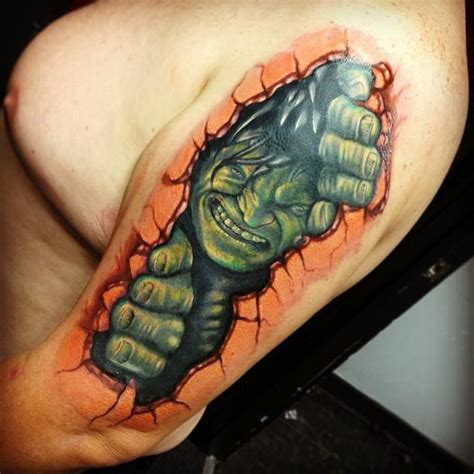 hulk tattoos by raphael barros tattoonow