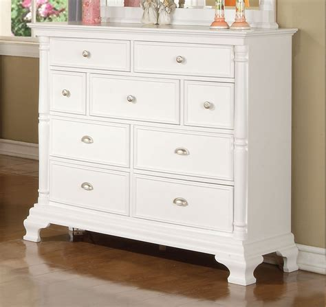 Double Drawer Dresser by Madison White Nine Drawer Tall Dresser By Winners Only
