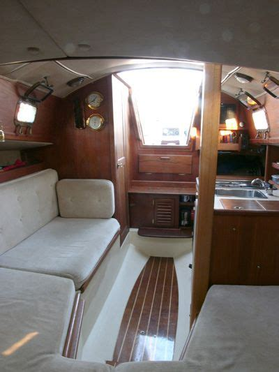 pacific seacraft flicka  caraway interior aft view