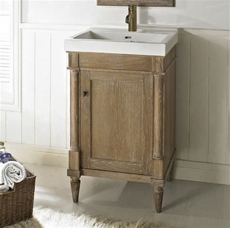 weathered oak bathroom vanity rustic chic 21x18 quot vanity weathered oak fairmont designs fairmont designs
