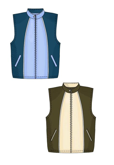 sewing pattern waistcoat waistcoat sewing pattern 6113 made to measure sewing