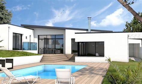 Photo Maison Contemporaine Plain Pied Maison Moderne maison moderne sur mesure 44 56 85 depreux construction
