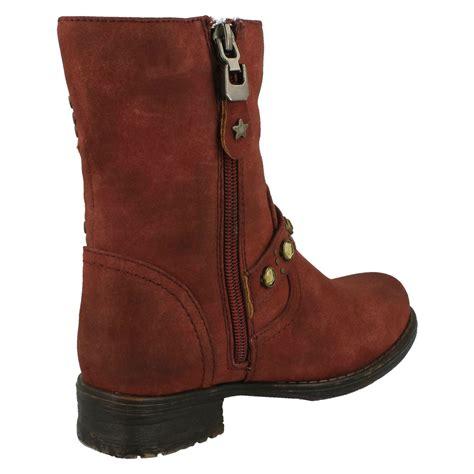 casual biker boots casual biker zip up boots ebay