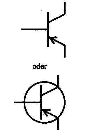 transistor pnp symbol elektro symbole halbleiterbauelemente elektricks