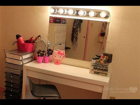 vanities for bedrooms with lights room inspiriation my new vanity mirror amp lighting youtube 20060 | hqdefault