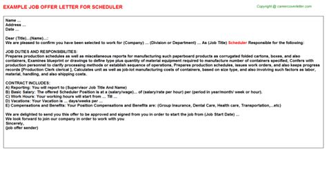 appointment letter format for radiologist radiology scheduler offer letters