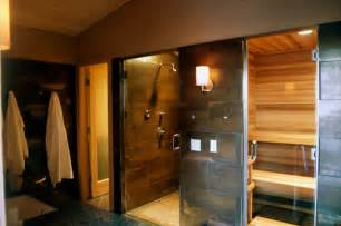 Modern Bath Shower Combo 10 homes with saunas that will instantly relax you photos