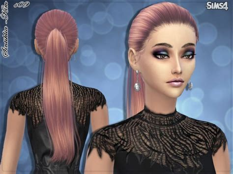 sims 4 hairs butterflysims side ponytail hair 164 sims 4 cc long ponytail newhairstylesformen2014 com