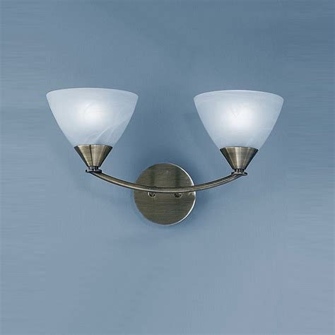 Meridian Double Wall Light In Brushed Bronze With Meridian Lights