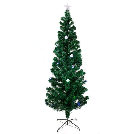 ge white fiberoptic tree w multi colored lights 6 5 ft pre lit multi color led fiber optic tree bright stand walmart