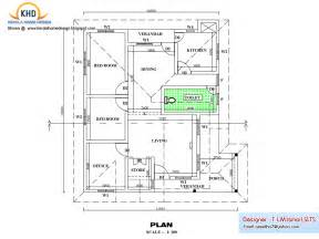 Single Floor House Plan And Elevation 1270 Sq Ft Free House Plans And Elevations In Kerala