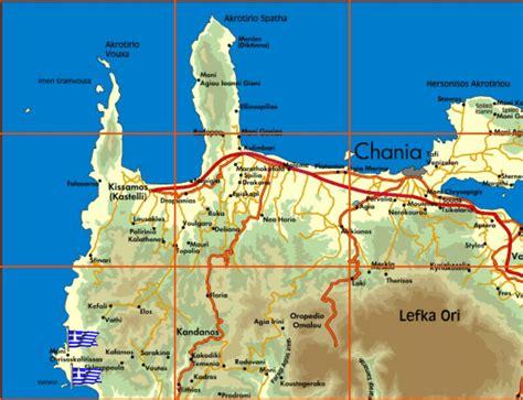 appartamenti elafonissi creta mappa isola di creta grecia mappa di creta cartina di