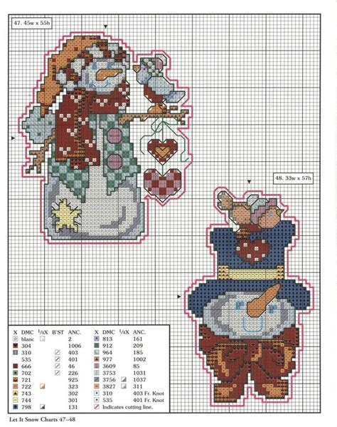 78 xmas ornaments charts 47 48 jpg let it snow