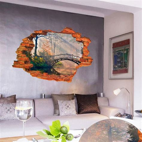 temporary wall murals deal 3d mirkwood 3d window view removable wall sticker decal decor mural wall decals xt in