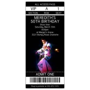 elvis concert ticket invite paperstyle