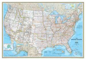 wall size usa map national geographic classic united states wall map