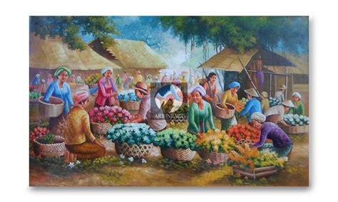 Cari Lukisan Cat Minyak Kaskus jual lukisan pasar bunga ari lestawan