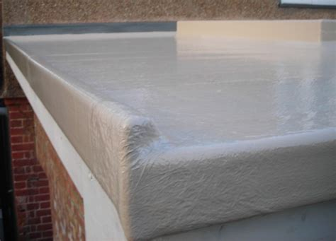 Flat Roof Coverings Beige Grp Fibreglass Flat Roof Covering 1