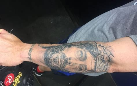 Christian Vazquez tattoo: Boston Red Sox C has Jesus