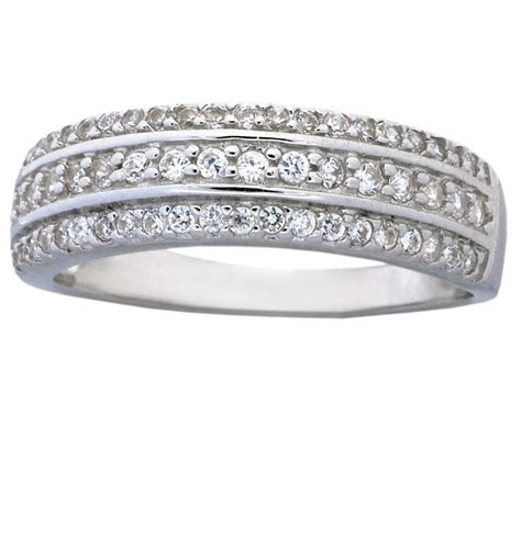 1 carat cubic zirconia wedding ring band for in