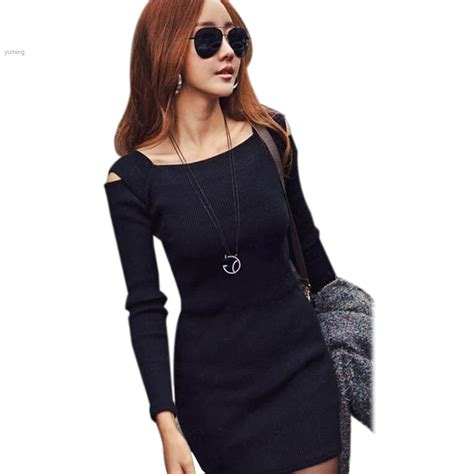 knit dresses for fall 2014 new fashion autumn winter sleeve o