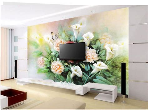 free shipping modern wall 3d murals wallpaper 3d rose free shipping modern wall 3d murals wallpaper lily peony