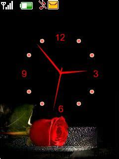 rose themes java download rose clock nokia theme mobile toones