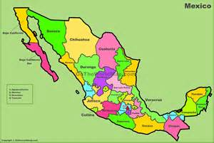 mexico and map mexico map and states