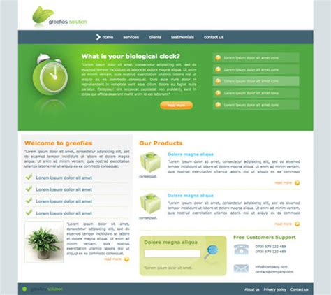 60 High Quality Free Web Templates And Layouts Hongkiat Html Layout Templates