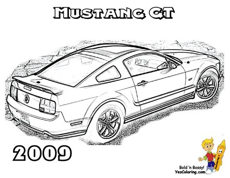 mustang logo colouring