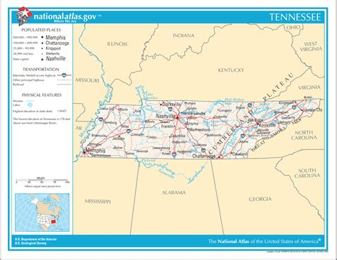 us map states tennessee maps united states map tennessee