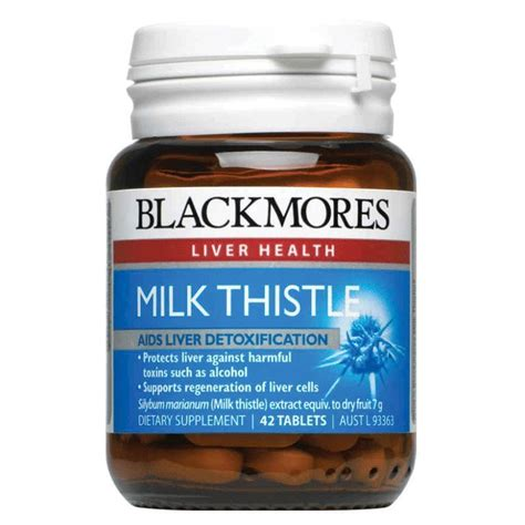 Blackmores Liver Detox Side Effects by Blackmores Milk Thistle 42 Tablets My Chemist